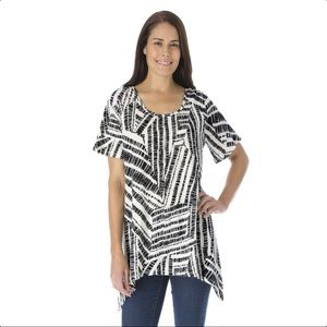 WOMAN WITHIN 1X-22/24 Shark Bite Top- NEW
